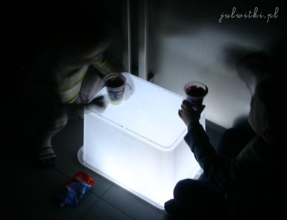 podświetlany stolik - pudełko, julwitki.pl