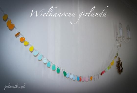 wielkanocna girlanda jajeczka, julwitki.pl